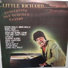 Disques de vinyle: LITTLE RICHARD- INTERPRETA SUS GRANDES EXITOS - SPAIN LP 1981 - COMO NUEVO.. Lote 212165851