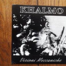 Discos de vinilo: KHALMO - VISIONI MECCANICHE + NON RITORNO + STATO NASCENTE + RINCHIUSO NULLA + IMMAGINARIO ANI '80. Lote 212181332