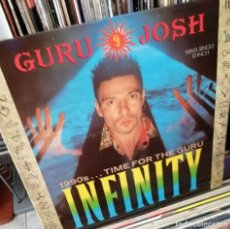 Discos de vinilo: GURU JOSH - INFINITY (3 VERSIONES) - MAXISINGLE 1990. Lote 212207355