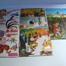 Disques de vinyle: 8 DISCOS DE CUENTOS INFANTILES AÑOS 60.. Lote 212209733