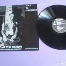Discos de vinilo: MUY DIFICIL LP ORIGINAL PUNK.1983 UK.ATTILA THE STOCKBROKER.RANTING AT THE NATION.CHERRY RED A RED46. Lote 212212163