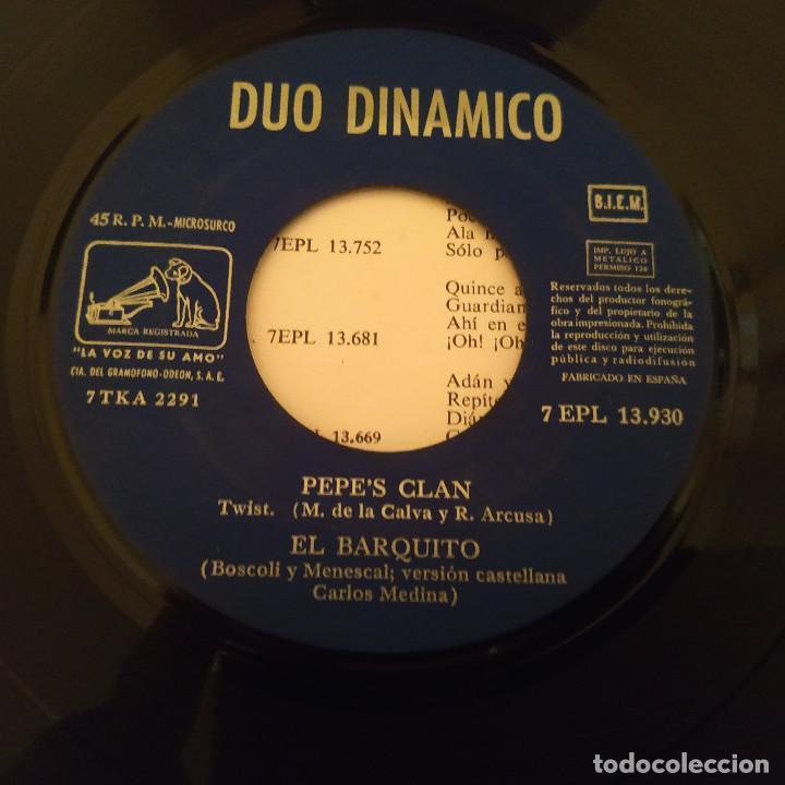 Discos de vinilo: Dúo Dinámico - Canción Triste / Adivina Adivinador / Pepes Clan / El Barquito - EP Año 1963 EX - Foto 4 - 212221202