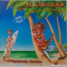 Discos de vinilo: WILFRIDO VARGAS. EL AFRICANO. MAXISINGLE ESPAÑA 3 TEMAS. Lote 212237507