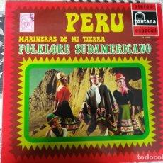 Discos de vinilo: FOLKLORE DE SUDAMERICA - PERU - MARINERAS DE MI TIERRA , LOS MOCHICAS, LOS INKAS, LOS CAMPESINOS. Lote 212266411