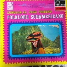 Discos de vinilo: CONOZCA EL PERU PRIMERO - LP EDICION ESPAÑOLA - RAUL DEL MAR DOMINGO RULLO LOS VIOLINES DE LIMA ETC. Lote 212266587