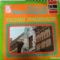 Discos de vinilo: FOLKLORE SUDAMERICANO - LP PERÚ Y SUS VALSES CONSAGRADOS - FONTANA ESPAÑA 1971. Lote 212266671