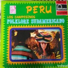 Discos de vinilo: LP - LOS CAMPESINOS - FOLKLORE SUDAMERICANO-PERU- (SPAIN, DISCOS FONTANA 1970. Lote 212266727