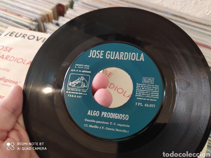 Discos de vinilo: Jose Guardiola - Eurovisión 1963 - Algo prodigioso - Incluye 2 carátulas una con foto firmada - Foto 7 - 212274585