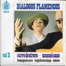 Discos de vinilo: CURRO DE UTRERA MANUEL CANO DIALOGOS FLAMENCOS VOL 2. Lote 212288208
