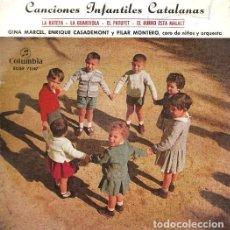 Discos de vinilo: GINA MARCEL , ENRIQUE CASADEMONT Y PILAR MONTERO - CANCIONES INFANTILES CATALANAS - EP COLUMBIA 1959. Lote 212295556