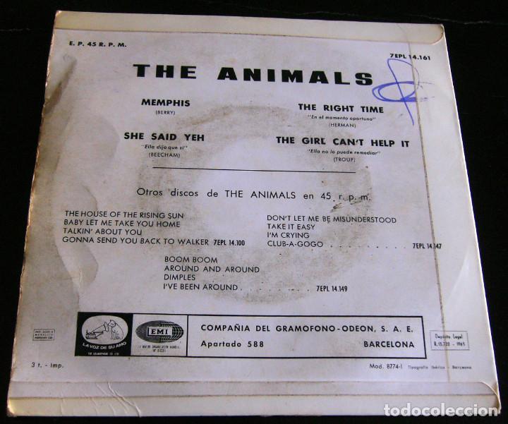 Discos de vinilo: THE ANIMALS - MEMPHIS - E.P. - AÑO 1965 - LA VOZ DE SU AMO - EMI - Foto 5 - 212299747