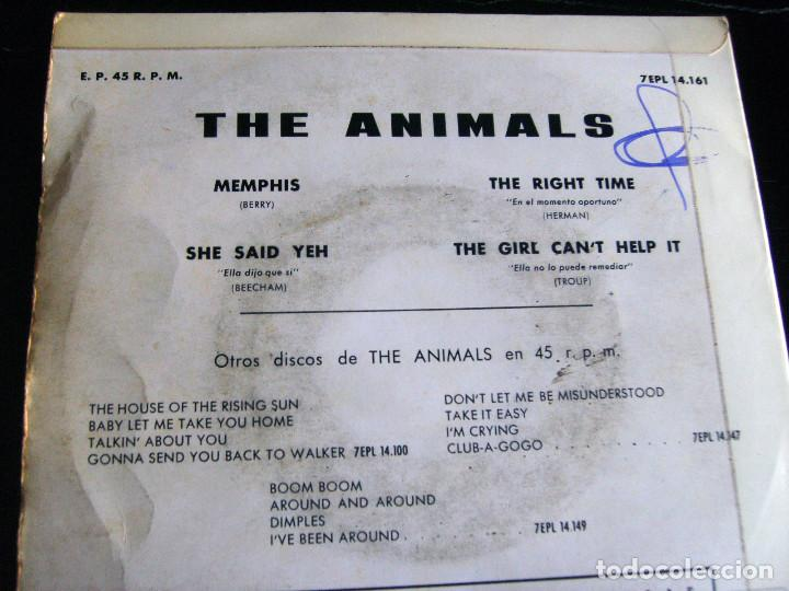 Discos de vinilo: THE ANIMALS - MEMPHIS - E.P. - AÑO 1965 - LA VOZ DE SU AMO - EMI - Foto 6 - 212299747