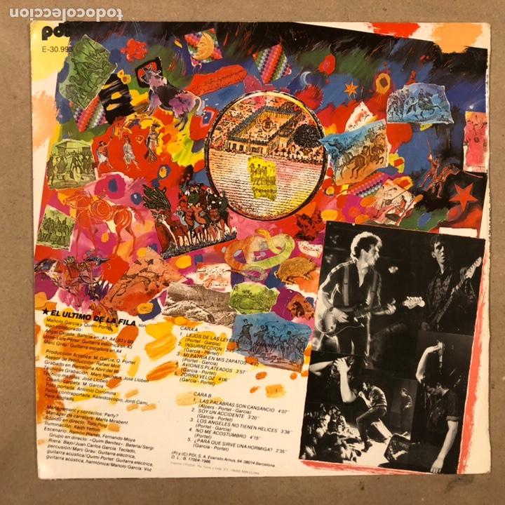 """Discos de vinilo: - L.P. VINILO - EL ÚLTIMO DE LA FILA """"ENEMIGOS DE LO AJENO"""" (PDI 1986). DEDICADO POR QUIMI Y MANOLO - Foto 9 - 212309523"""