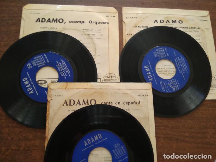 Discos de vinilo: ADAMO - 3 DISCOS SINGLES - Foto 2 - 212314022