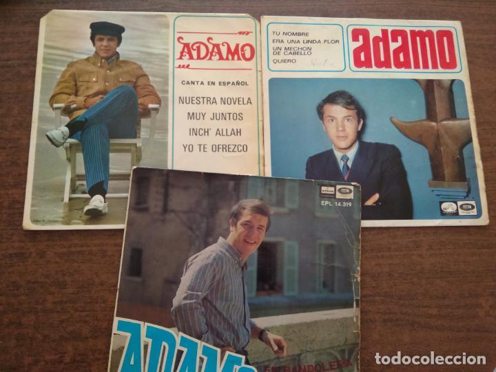 ADAMO - 3 DISCOS SINGLES (Música - Discos - Singles Vinilo - Cantautores Extranjeros)