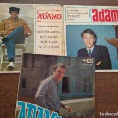 Discos de vinilo: ADAMO - 3 DISCOS SINGLES. Lote 212314022