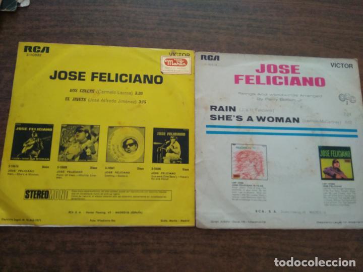 Discos de vinilo: JOSE FELICIANO - 2 DISCOS SINGLES - Foto 2 - 212314150