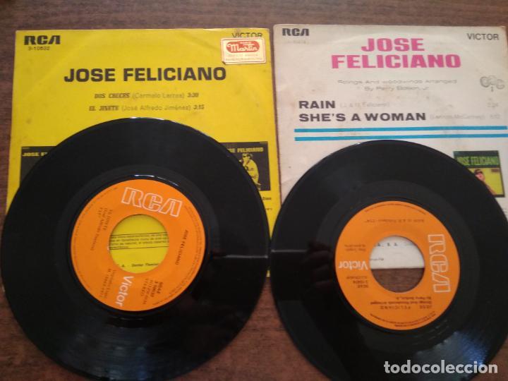Discos de vinilo: JOSE FELICIANO - 2 DISCOS SINGLES - Foto 3 - 212314150