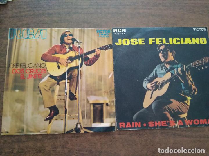JOSE FELICIANO - 2 DISCOS SINGLES (Música - Discos - Singles Vinilo - Cantautores Internacionales)