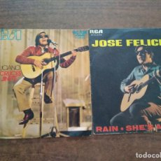 Discos de vinilo: JOSE FELICIANO - 2 DISCOS SINGLES. Lote 212314150