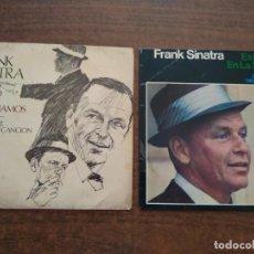 Discos de vinilo: FRANK SINATRA - 2 DISCOS SINGLES. Lote 212314373