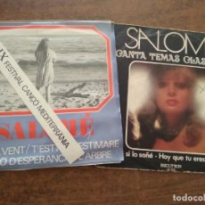 Discos de vinilo: SALOME - 2 DISCOS SINGLE. Lote 212314688