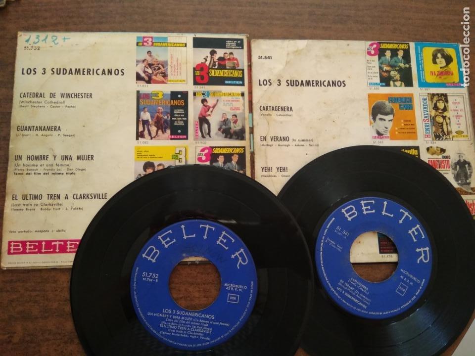 Discos de vinilo: LOS TRES SUDAMERICANOS - 2 DISCOS SINGLES - Foto 2 - 212314930