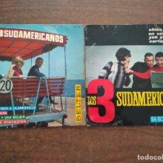 Discos de vinilo: LOS TRES SUDAMERICANOS - 2 DISCOS SINGLES. Lote 212314930