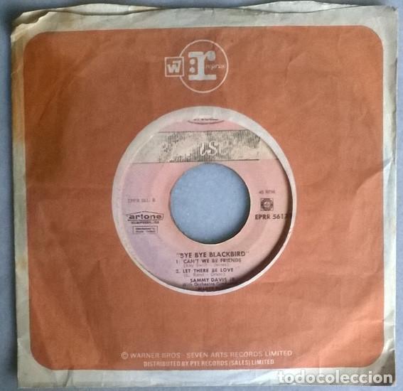 SAMMY DAVIS JR. BYE BYE BLACKBIRD/ THE TENDER TEAP/ CAN'T WE BY FRIENDS/ LET THERE BE LOVE. 1965 EP (Música - Discos de Vinilo - EPs - Jazz, Jazz-Rock, Blues y R&B)