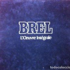 Discos de vinilo: JACQUES BREL ?– L'ŒUVRE INTÉGRALE - 10 × VINYL, LP, COMPILATION 4 × VINYL, LP, ALBUM PAÍS:. Lote 212319586