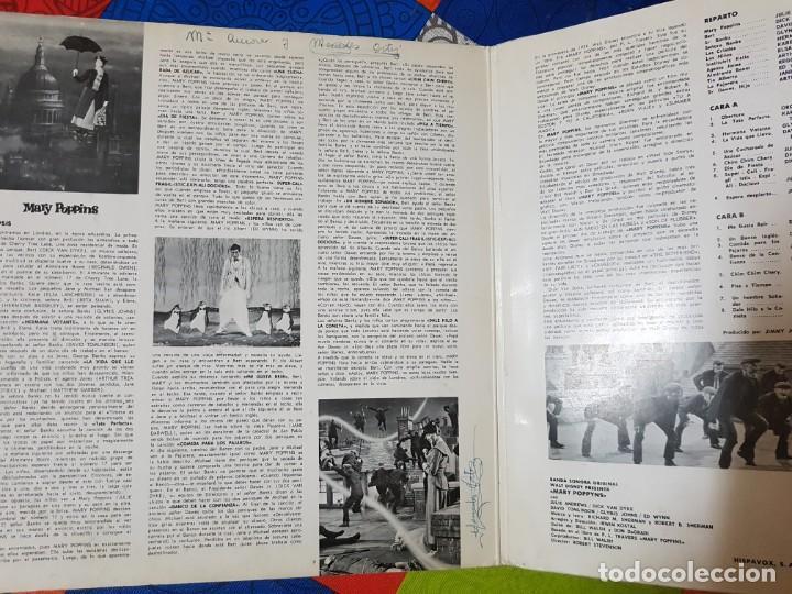 Discos de vinilo: Mary Poppins. Banda Sonora Original de la Película en Vinilo del año 1963 / 1964. Coleccionistas - Foto 2 - 212320333