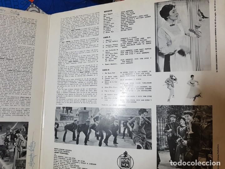 Discos de vinilo: Mary Poppins. Banda Sonora Original de la Película en Vinilo del año 1963 / 1964. Coleccionistas - Foto 3 - 212320333