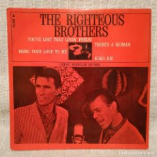 Discos de vinilo: THR RIGHTEOUS BROTHERS - YOU'VE LOST THAT LOVIN' FEELIN' + 3 - RARO EP EDICION FRANCESA DE 1965. Lote 212323730