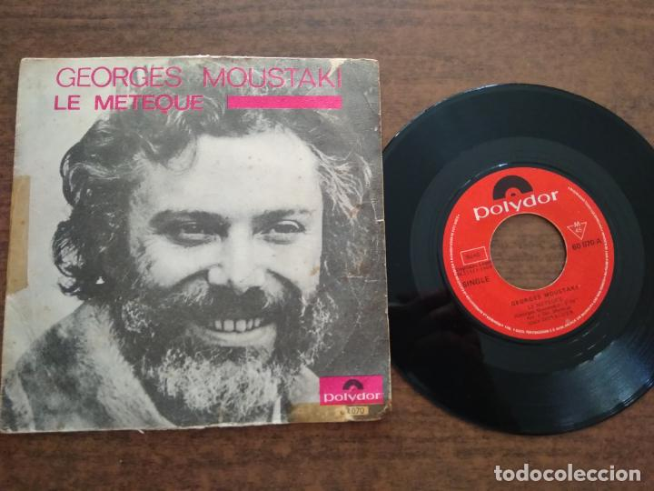 GEORGE MOUSTAKI - 1 DISCO SINGLE (Música - Discos - Singles Vinilo - Cantautores Extranjeros)