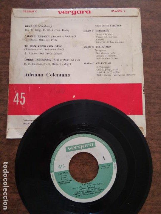 Discos de vinilo: ADRIANO CELENTANO - 1 DISCO SINGLE - Foto 2 - 212340508