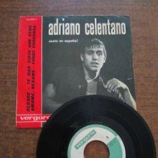 Discos de vinilo: ADRIANO CELENTANO - 1 DISCO SINGLE. Lote 212340508
