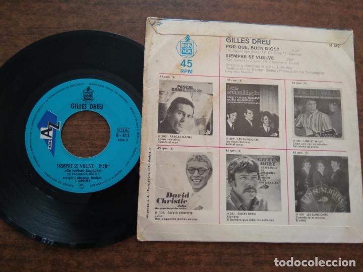 Discos de vinilo: GILLES DREU - 1 DISCO SINGLE - Foto 2 - 212342326