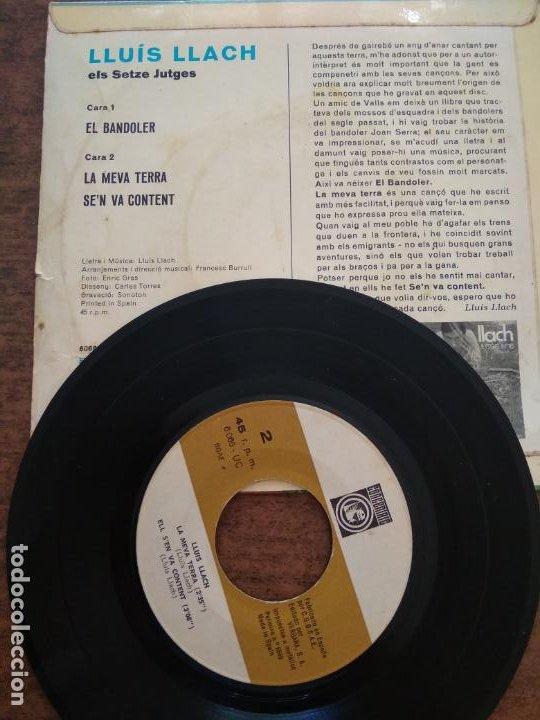 Discos de vinilo: LLUIS LLACH - 1 DISCO SINGLE - Foto 2 - 212343470