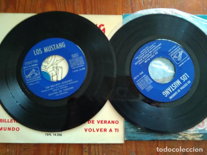 Discos de vinilo: LOS MUSTANG - 2 DISCOS SINGLES - Foto 3 - 212345325