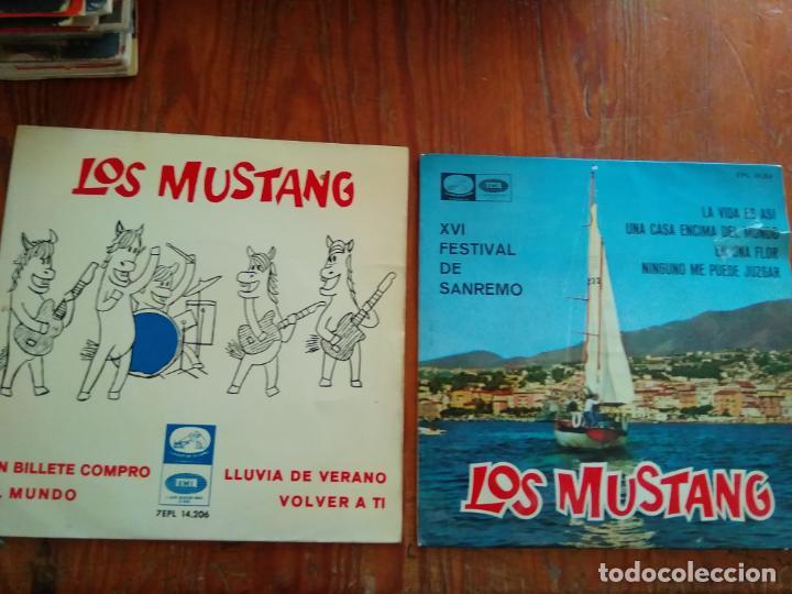 LOS MUSTANG - 2 DISCOS SINGLES (Música - Discos - Singles Vinilo - Grupos Españoles de los 70 y 80)