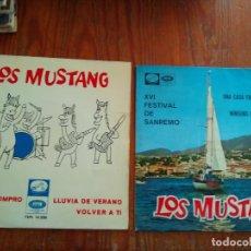 Discos de vinilo: LOS MUSTANG - 2 DISCOS SINGLES. Lote 212345325