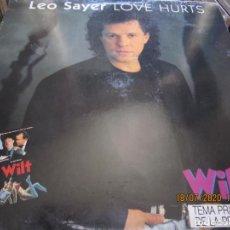 Discos de vinilo: LEO SAYER - LOVE HURTS MAXI 45 R.P.M. - ORIGINAL ESPAÑOL FACTORY 1980 - MUY NUEVO (5). Lote 212363081
