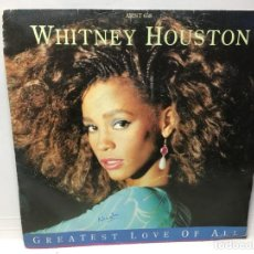 Discos de vinilo: SINGLE WHITNEY HOUSTON - GREATEST LOVE OF ALL / THINKING ABOUT YOU. Lote 212388255