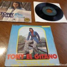 Discos de vinilo: TONY EL GITANO-LOTE TRES SINGLES-ACID RUMBA-. Lote 212411940