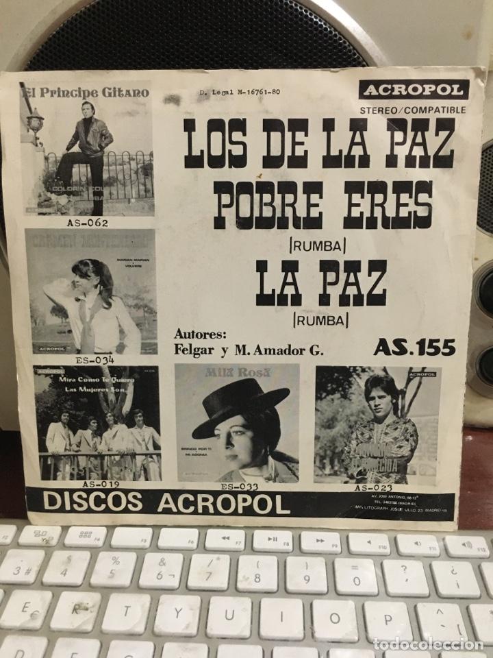 Discos de vinilo: LOS DE LA PAZ-POBRE ERES/LA PAZ-ACROPOL 1980-VINILO NUEVO-INENCONTRABLE Y BUSCADO DISCO-RUMBA PUNK - Foto 2 - 212430216