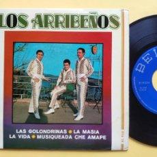 Discos de vinilo: LOS ARRIBEÑOS - EP SPAIN PS - MINT * LAS GOLONDRINAS. Lote 212478011