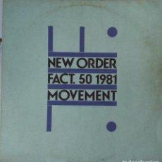 Discos de vinil: NEW ORDER- FACT.50 1981 MOVEMENT. Lote 212487053