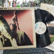 Discos de vinilo: PACO MAXI AMOR DE MIS AMORES ESPAÑA 1989 CON 3 HOJAS PROMO. Lote 212499431