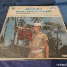 Discos de vinilo: EXPROV LP DOCE MARCHAS MILITARES FRANCESAS ESTADO ACEPTABLE. Lote 212519187