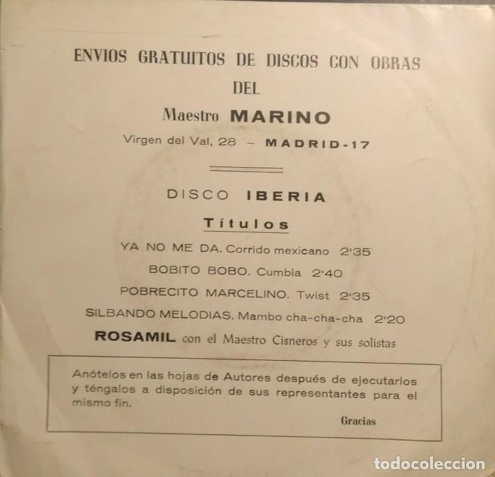 EP ROSAMIL CON EL MAESTRO CISNEROS : OBRAS DEL MAESTRO MARINO ( CORRIDO, CUMBIA, TWIST, MAMBO) (Música - Discos de Vinilo - EPs - Solistas Españoles de los 50 y 60)